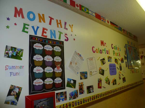 monthly events wall